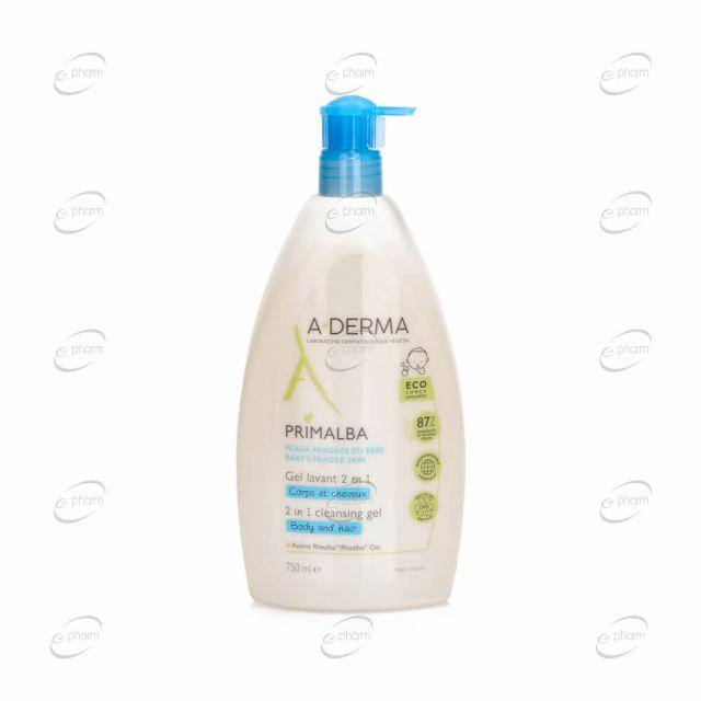 A-DERMA PRIMALBA почистващ гел 2 в 1
