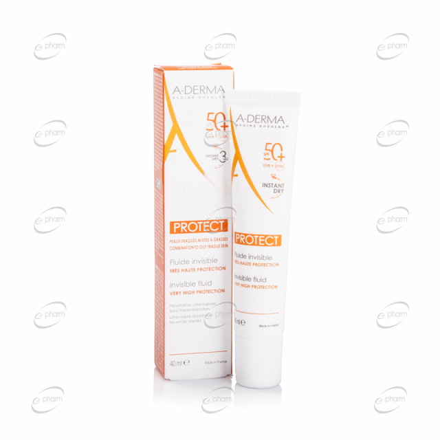 A-DERMA PROTECT INVISIBLE FLUID SPF 50+