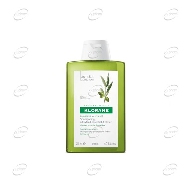 KLORANE анти-ейдж шампоан с екстракт от маслина