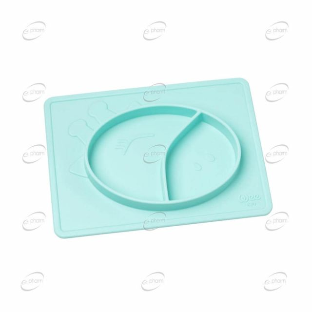 Wee Baby PRIME силиконова подложка за хранене с 2 секции