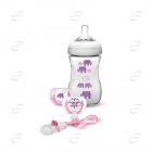 Philips AVENT подаръчен комплект – дизайн слончета, розово