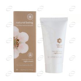 NATURAL BEING Manuka Honey Night Cream нормална към суха кожа