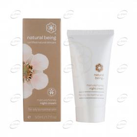 NATURAL BEING Manuka Honey Night Cream - мазна към нормална кожа